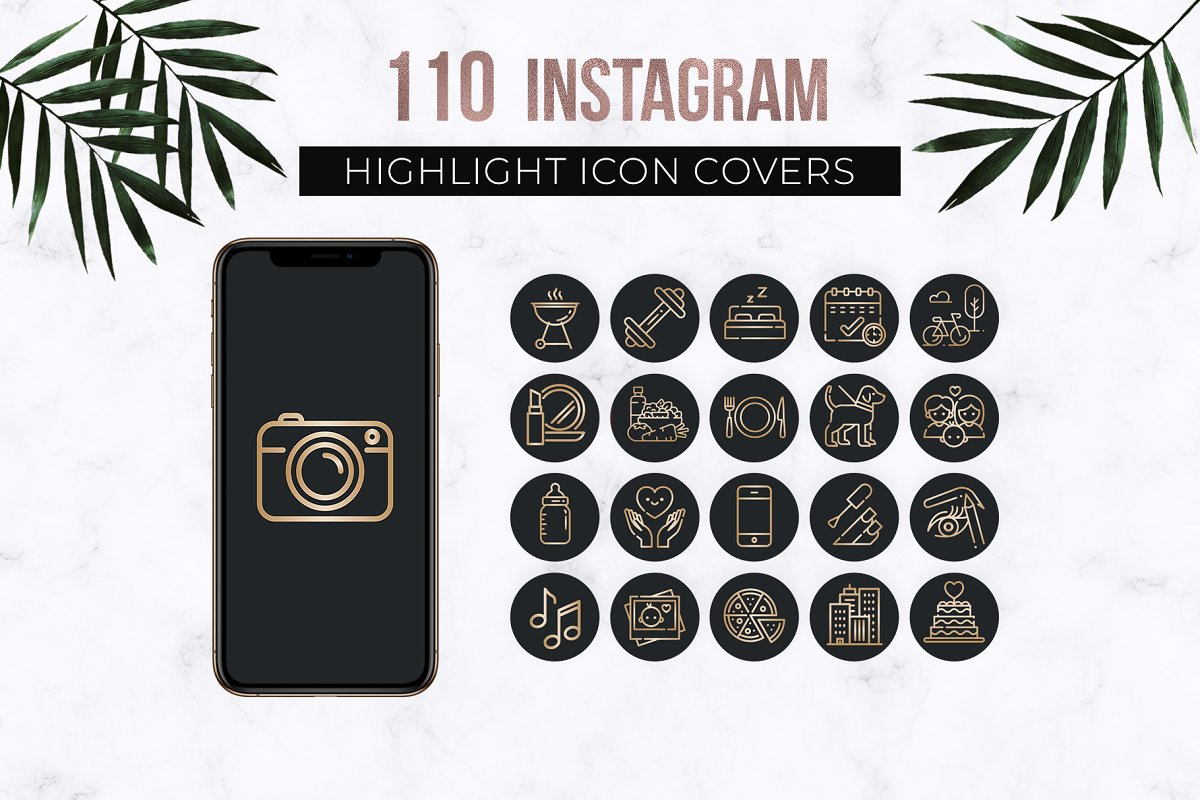 Black Instagram Highlight Icons