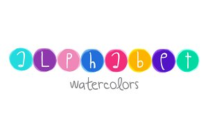 Alphabet Watercolors