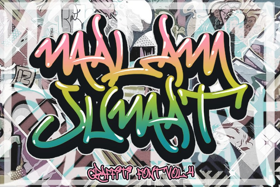 MALAM JUMAT GRAFFITI FONT VOL.4