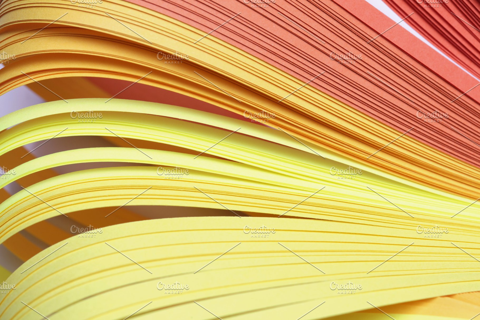 Abstract Color Wave Curl Strip Paper