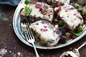 Semifreddo with garden berries