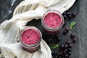 Fresh healthy smoothie