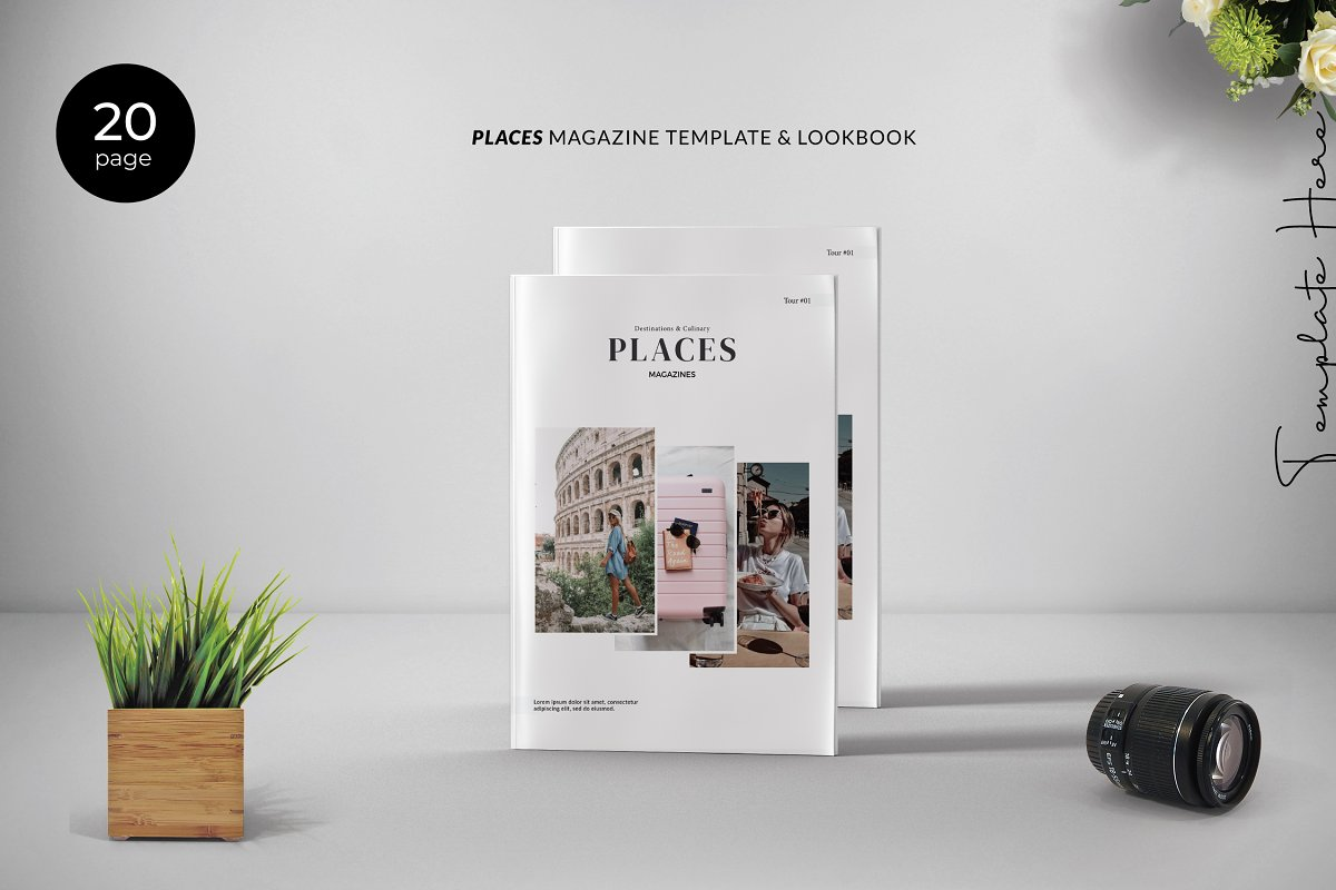 PLACES - Magazine Template Lookbook