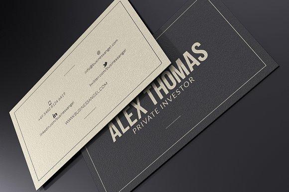 Executive Business Card Business Card Templates Creative Market