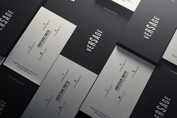 Simple Elegant Business Card Business Card Templates Creative Market
