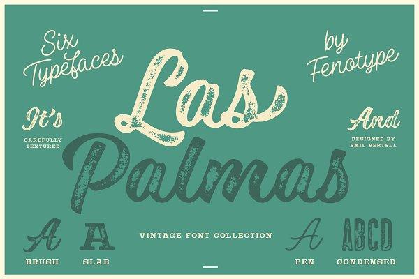 Las Palmas vintage font collection