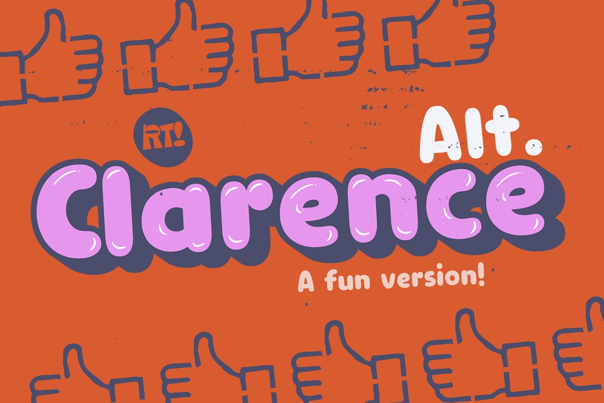 Clarence Alt / All Family-50% in Display Fonts