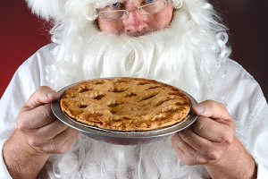 Santa and Fresh Baked Pie