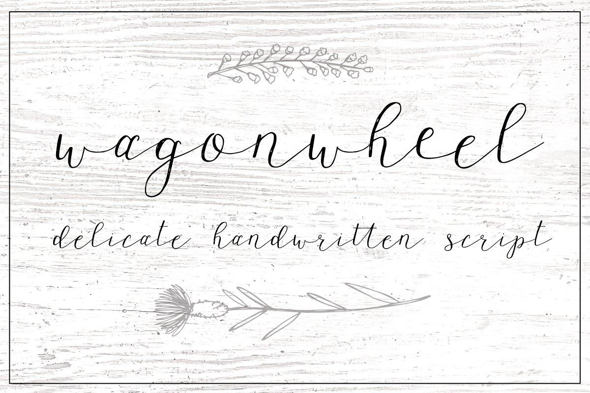 Wagon wheel Script Font