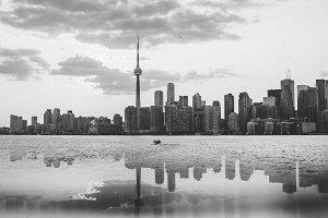 Toronto Skyline Black&White