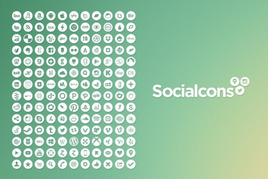 Vector Social Media Icons - Circle