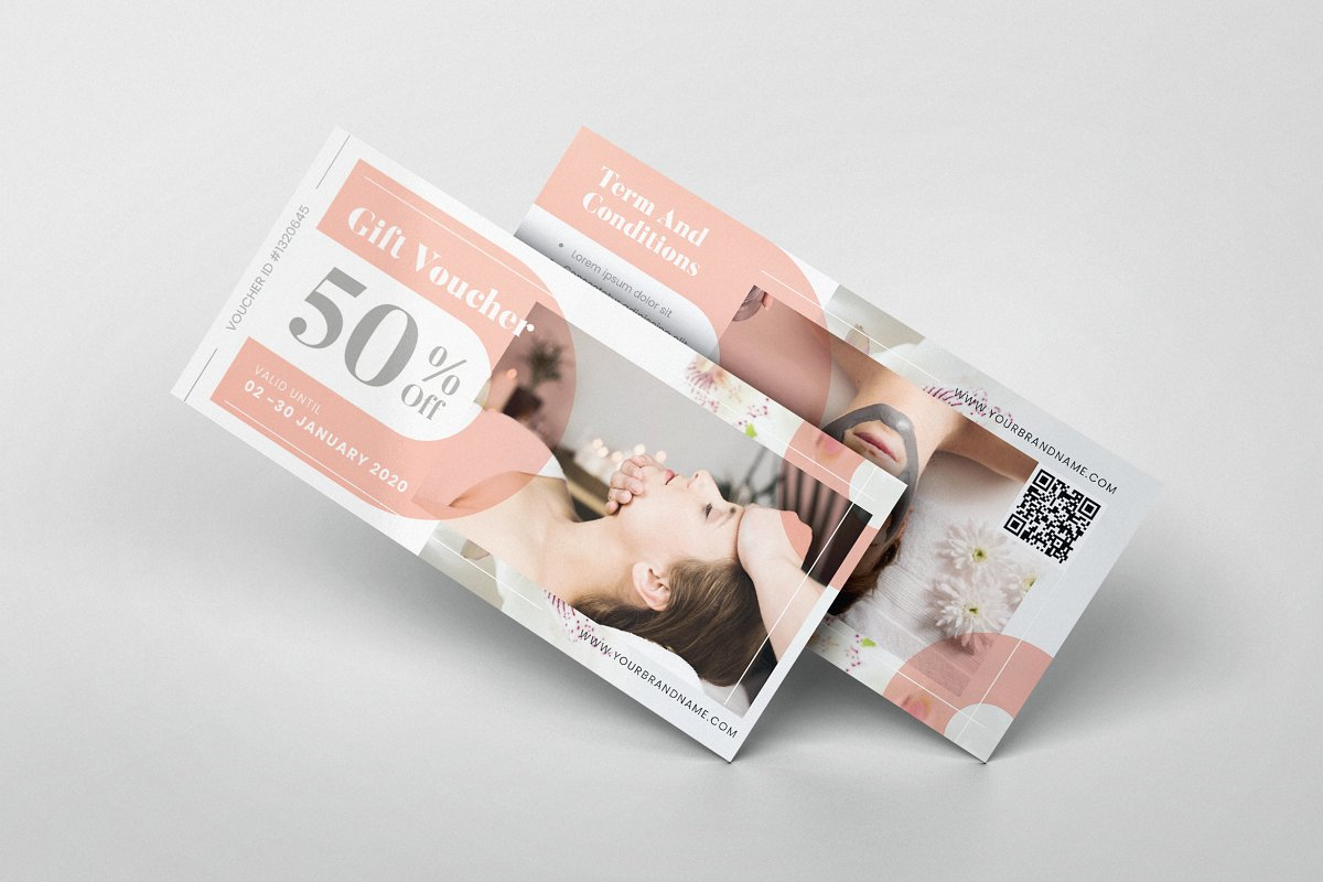 Female Beauty Spa AI and PSD Voucher