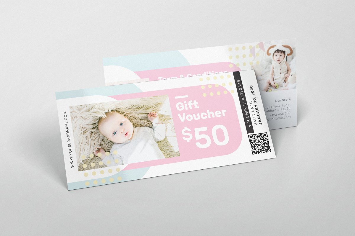 Baby Shop AI and PSD Gift Voucher