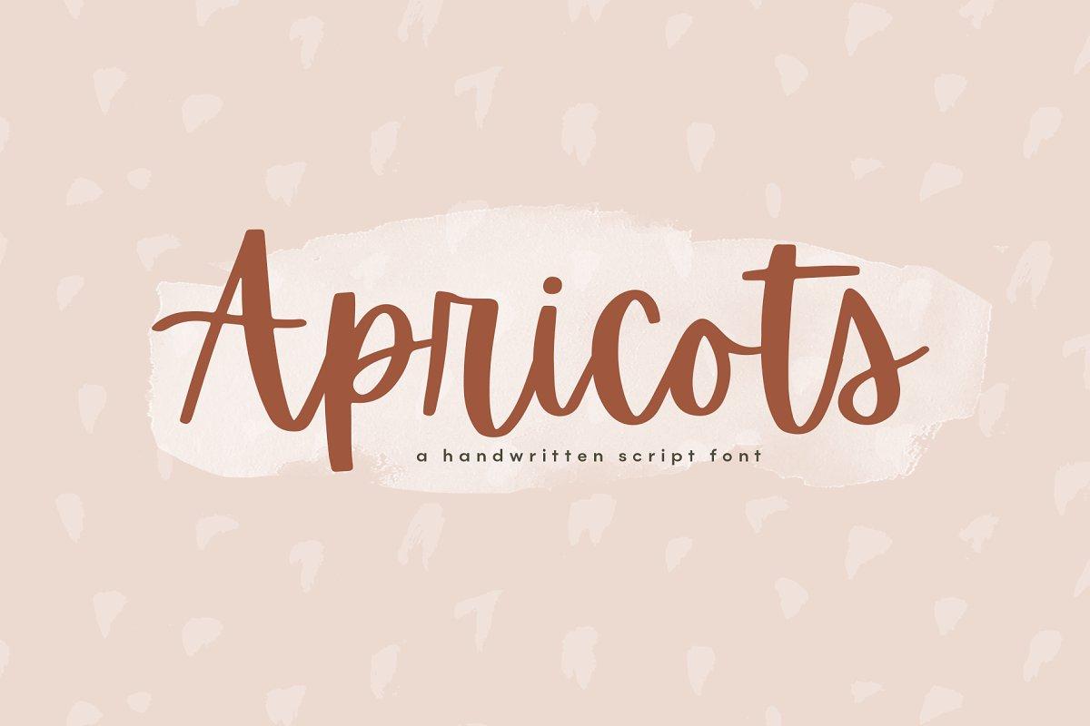Apricots - A Handwritten Script Font