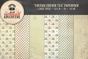Vintage French Tea Papers