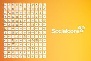 Vector Social Media Icons - Square