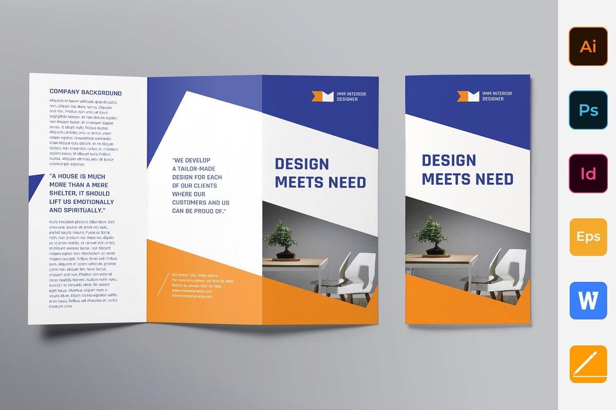 Interior Designer Brochure Trifold
