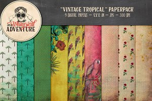 Vintage Tropical Papers