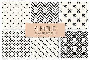 Simple Seamless Patterns. Set 4