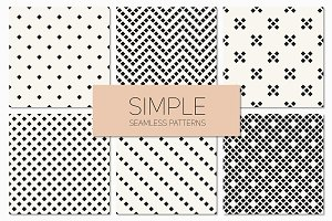 Simple Seamless Patterns. Set 4