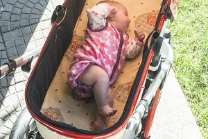 Baby sleep in baby buggy