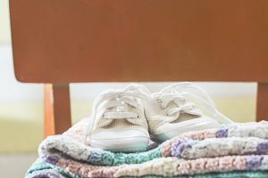 Baby blankets and shoes