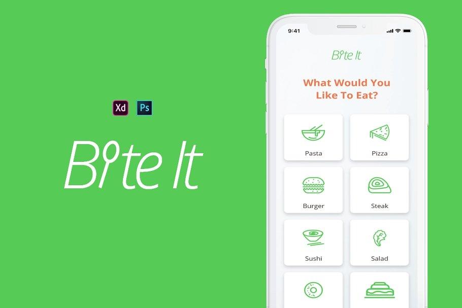Bite It Mobile UI Kit