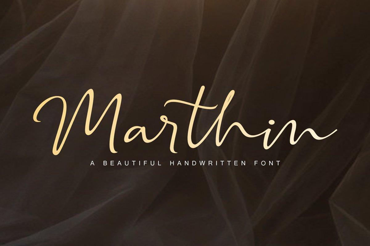 Marthin - Script Font