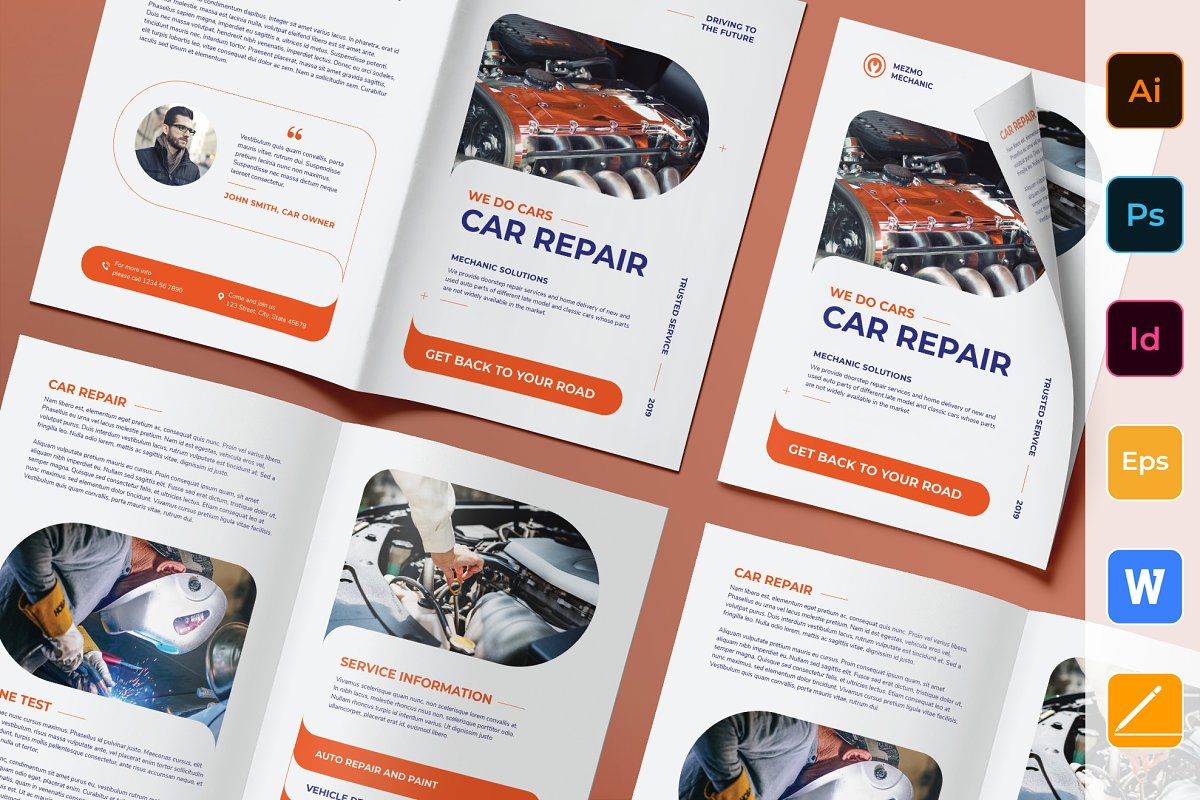 Car Repair Brochure Bifold