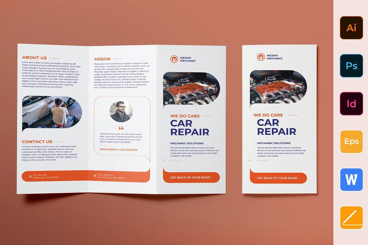 Car Repair Brochure Trifold