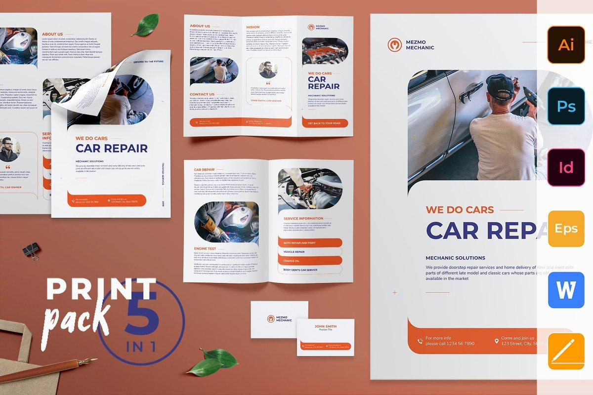 Car Repair Print Pack