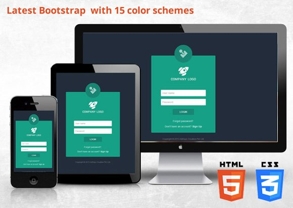 Bootstrap 3.2 Responsive Login ~ Bootstrap Themes ~ Creative Market
