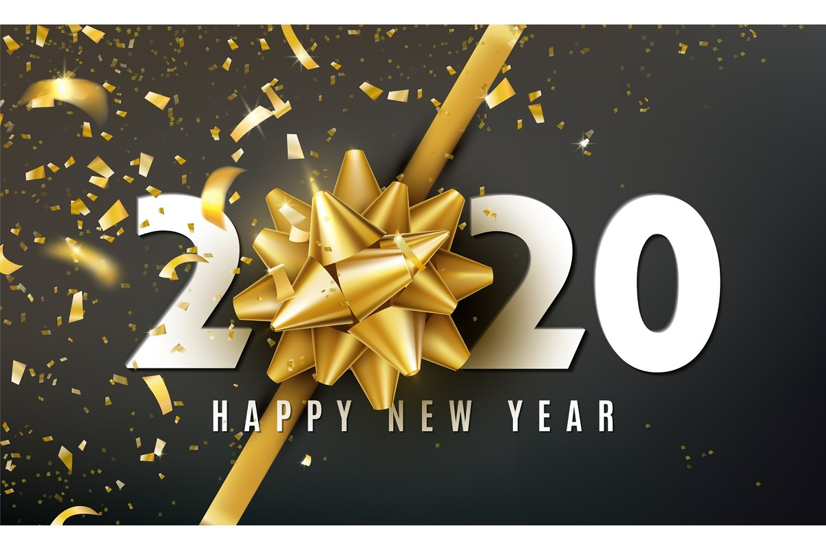 2020 Happy New Year.2020 Happy New Year Vector