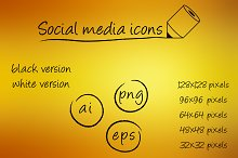 Social media icons - pencil