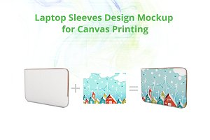 Laptop Sleeves Bag Design Mockup