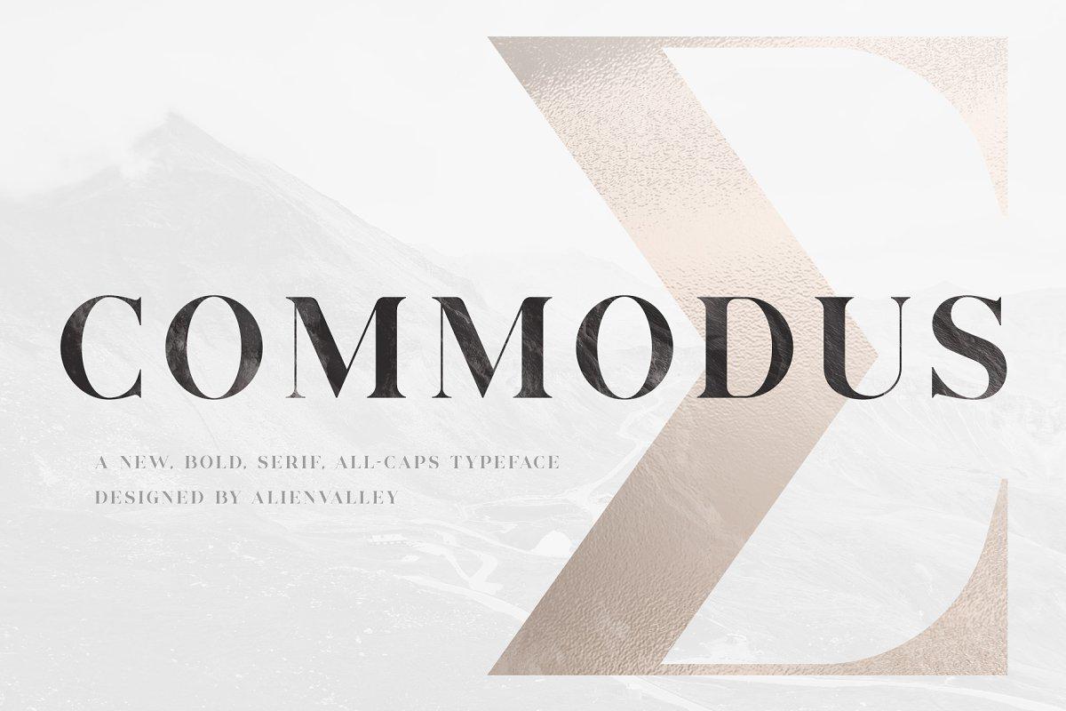 Commodus - All Caps Serif Typeface