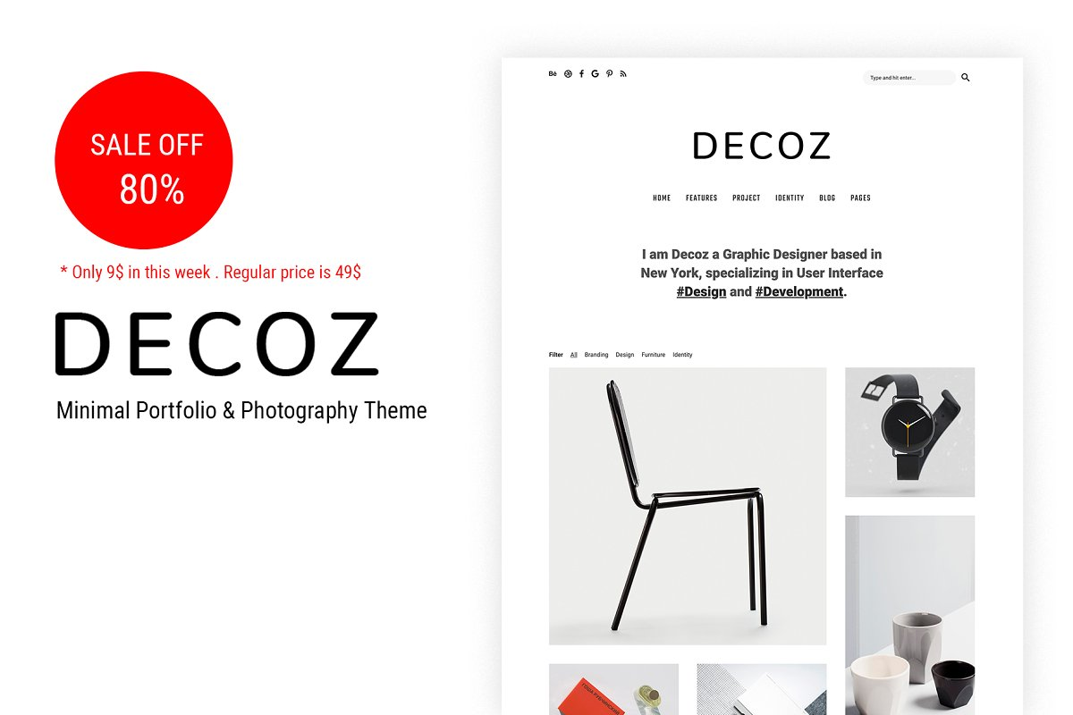 Decoz - Minimal Portfolio WordPress