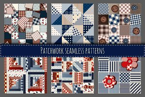 Set of 6 vector seamless patterns