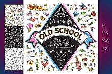 Funny Old School Tattoo Set
