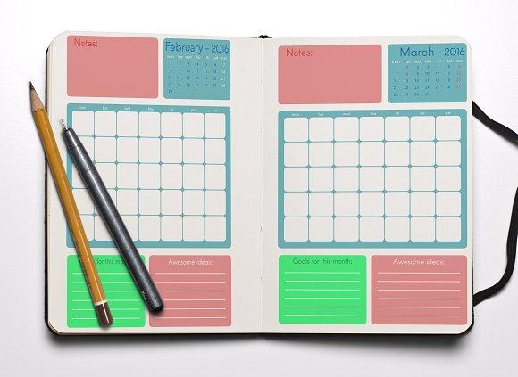 Monthly planner 2016. Vector - Brochures