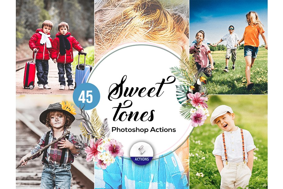 45 Sweet Tones Photoshop Actions