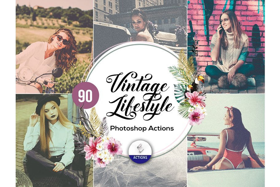 100 Vintage Photoshop Actions