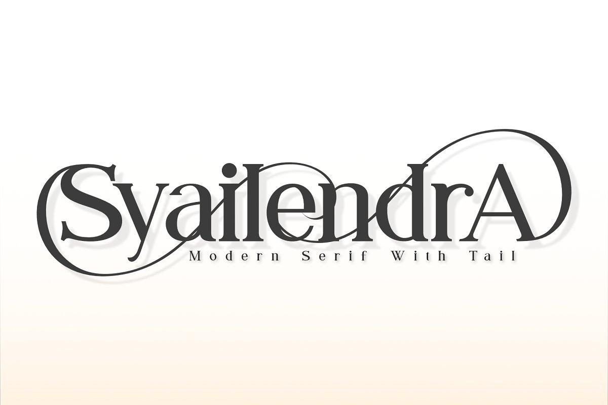 Syailendra - Modern Serif With Tail