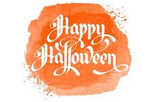 Halloween! Vector script lettering