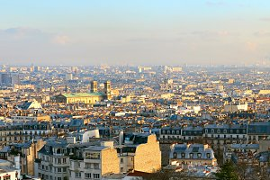 Skyline of Paris, France.