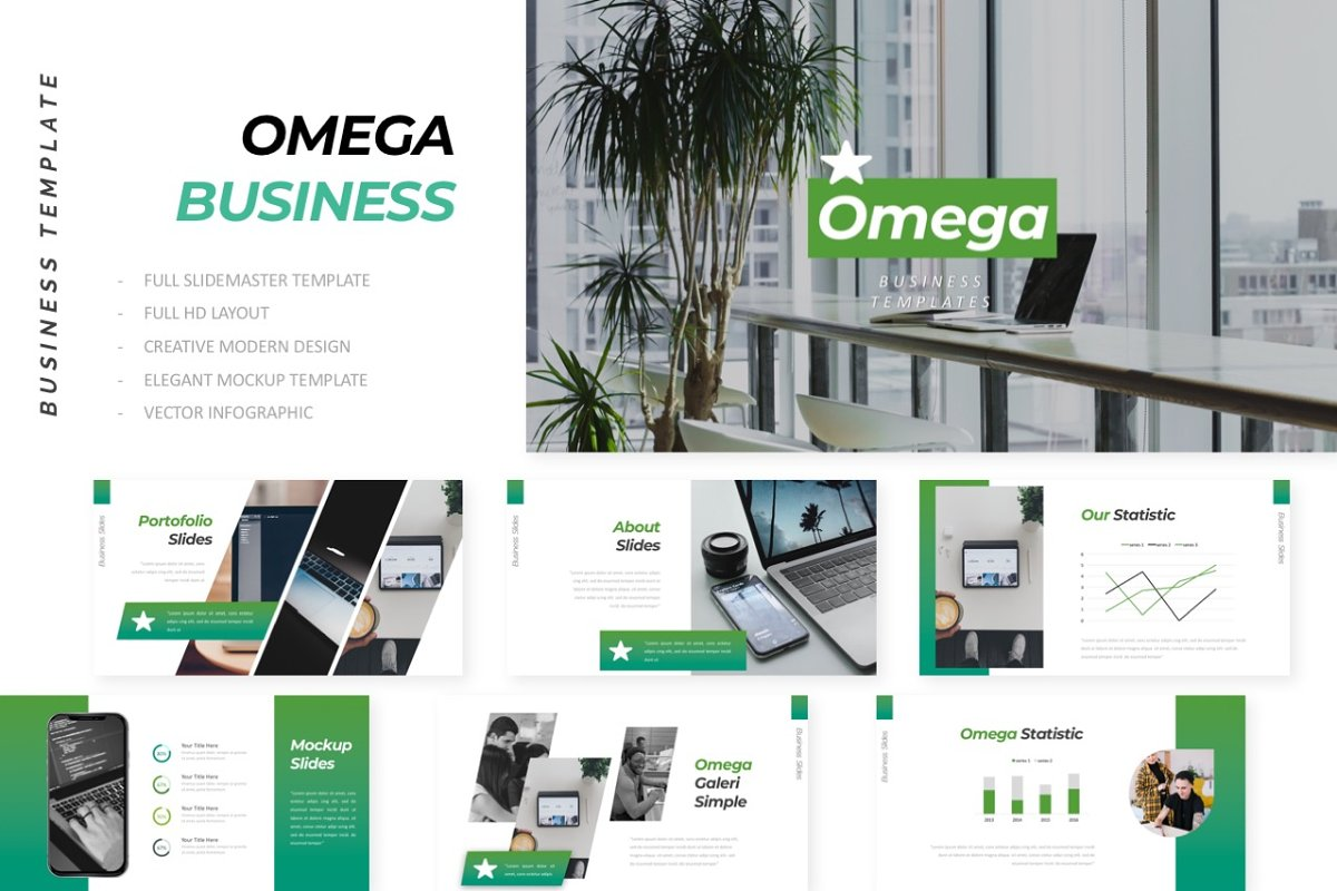 Omega Business Powerpoint Powerpoint Templates Creative