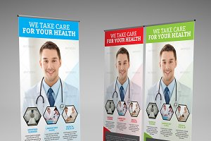 Medical Health Roll-up Banner