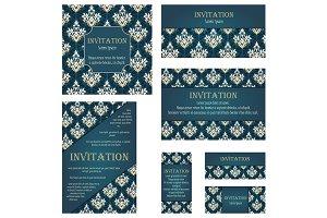 Set of 7 Invitation Cards
