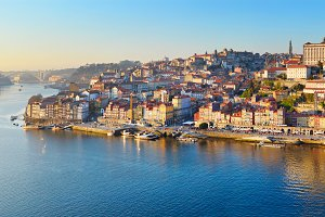 Panorama of Porto Old Town, Portugal