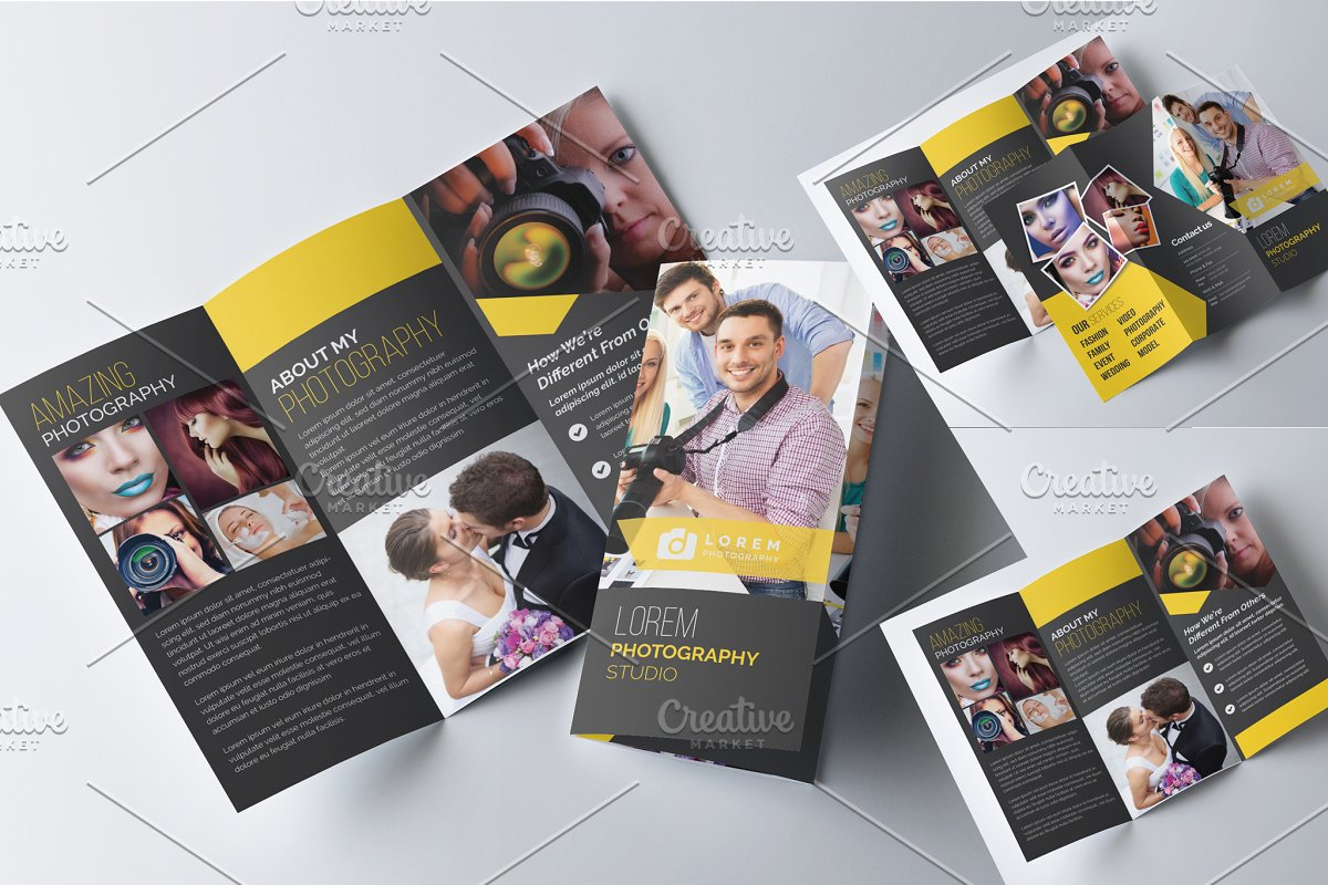Photography Trifold Brochure Layout